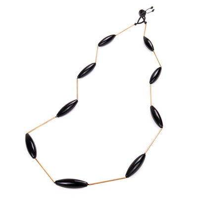 Glass'n'Brass Black Necklace