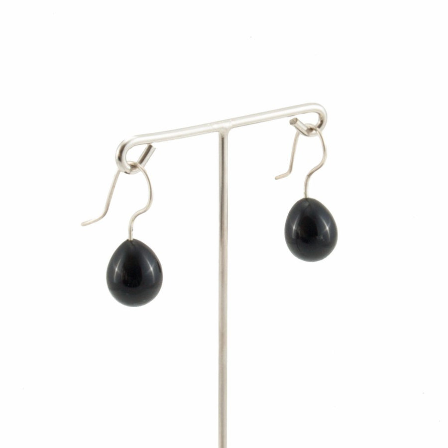 Inki Drop Black Earrings by Cosima Montavoci - Co Glass Jewellery