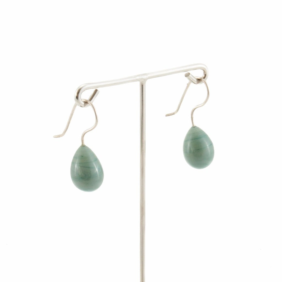 Inki Drop Metallic Navy Earrings by Cosima Montavoci - Co Glass Jewellery