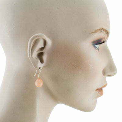 Inki Drop Cornelian Pink Earrings by Cosima Montavoci - Co Glass Jewellery