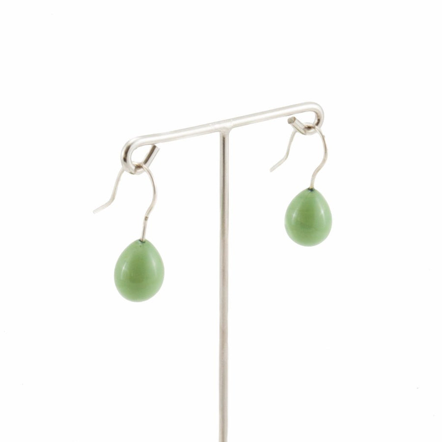 Inki Drop 60s Green Earrings by Cosima Montavoci - Co Glass Jewellery
