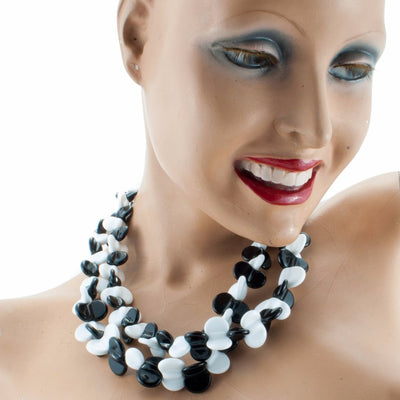 Margherita Black & White Necklace Necklace by Cosima Montavoci - Sunset Yogurt