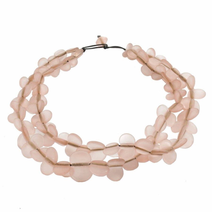 Margherita Pink Necklace Necklace by Cosima Montavoci - Co Glass Jewellery