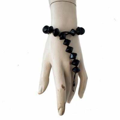 Snake Tie Black Bracelet Bracelets by Cosima Montavoci - Sunset Yogurt