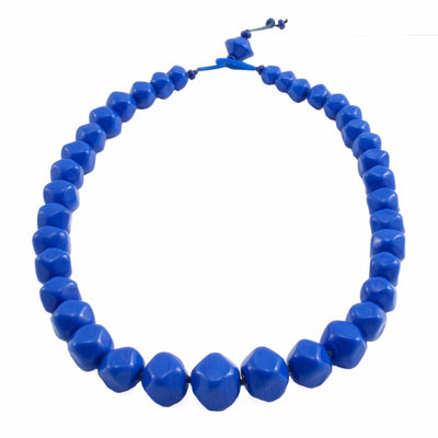 Squarebeat Blue Necklace by Cosima Montavoci - Co Glass Jewellery