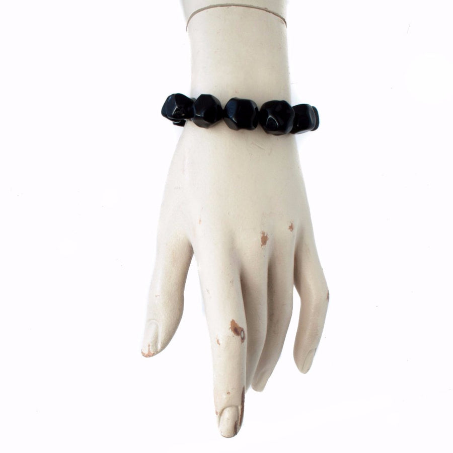 Squarebeat Black Bracelet Bracelets by Cosima Montavoci - Co Glass Jewellery