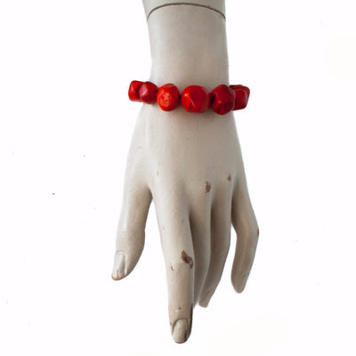 Squarebeat Red Bracelet Bracelets by Cosima Montavoci - Sunset Yogurt