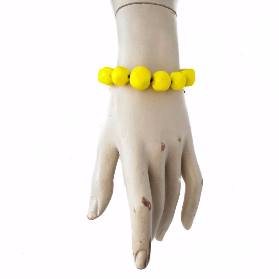 Squarebeat Yellow Bracelet Bracelets by Cosima Montavoci - Co Glass Jewellery
