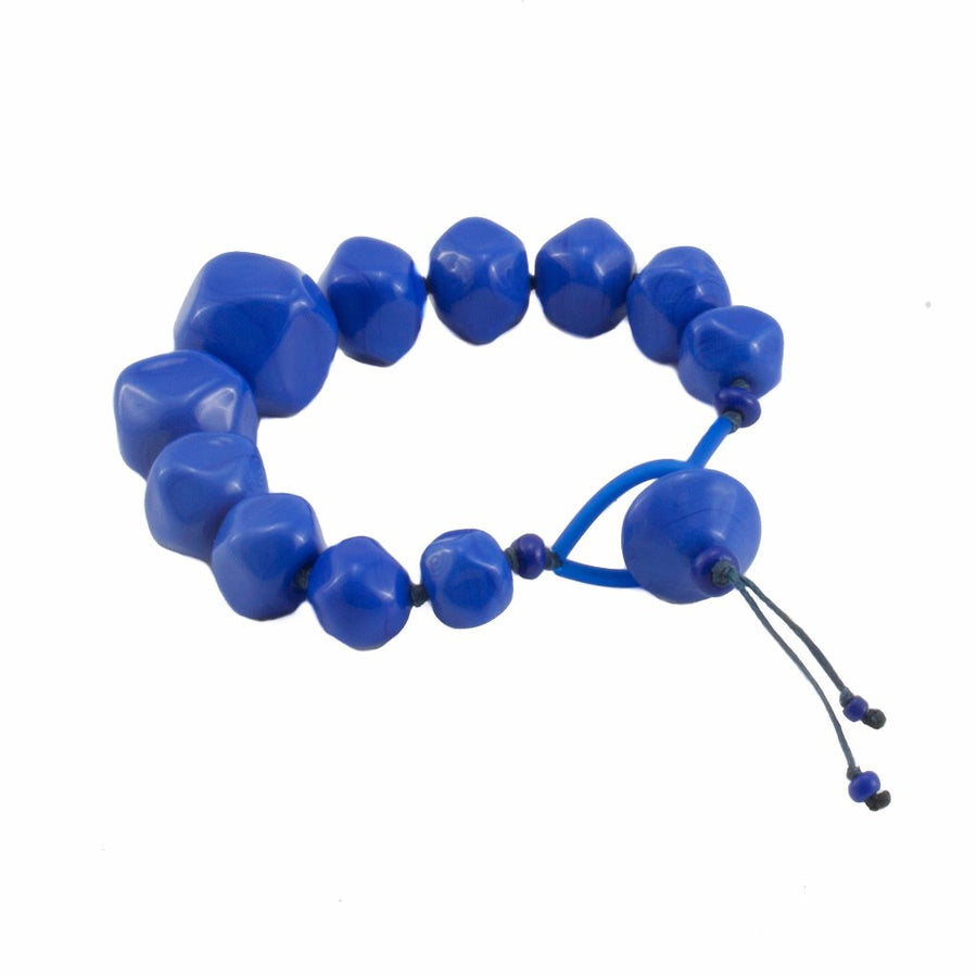 Squarebeat Blue Bracelet Bracelets by Cosima Montavoci - Co Glass Jewellery