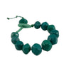 Squarebeat Dark Green Bracelet Bracelets by Cosima Montavoci - Co Glass Jewellery