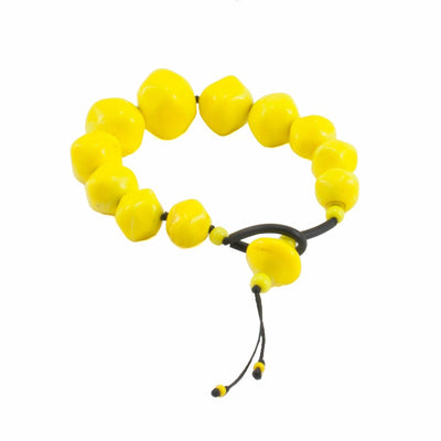 Squarebeat Yellow Bracelets by Cosima Montavoci - Co Glass Jewellery