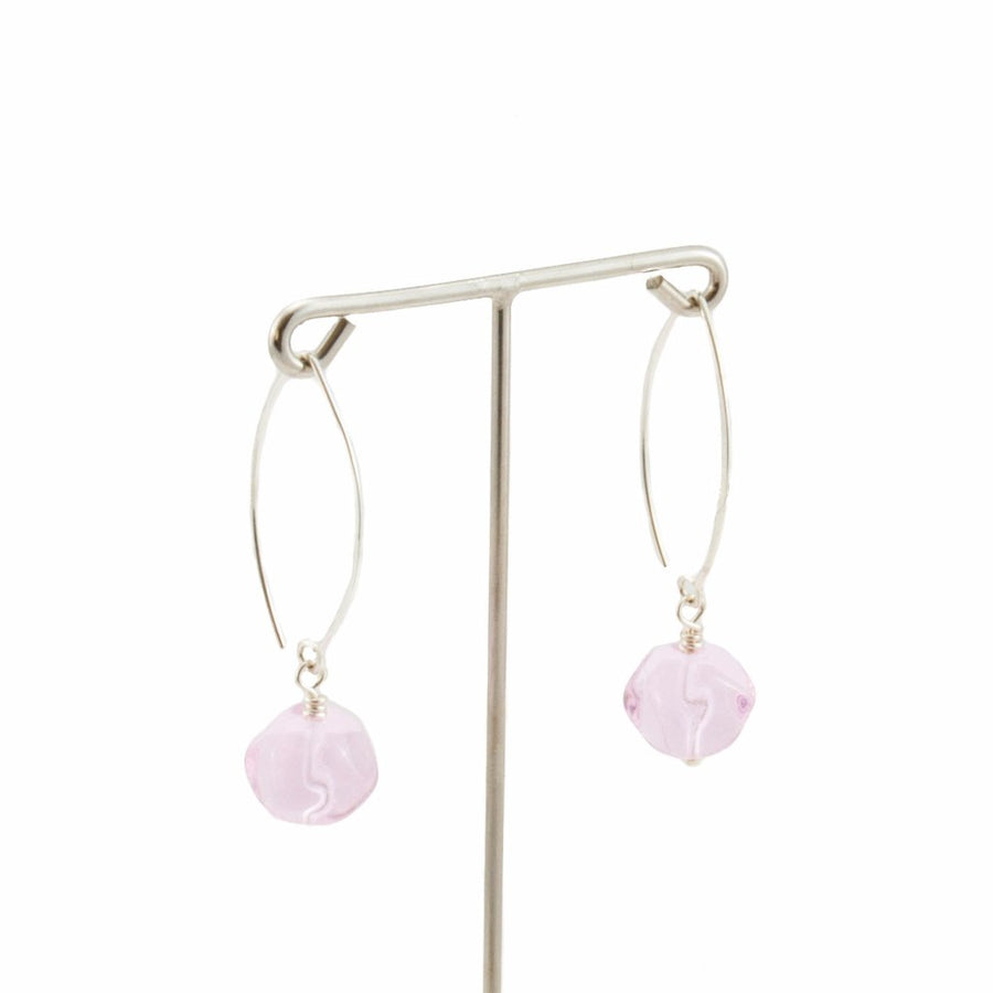 Squarebeat Antique Pink Dangle Earrings Earrings by Cosima Montavoci - Co Glass Jewellery