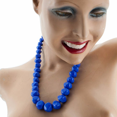 Squarebeat Blue Necklace Necklace by Cosima Montavoci - Co Glass Jewellery