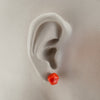 Squarebeat Red Stud Earrings Earrings by Cosima Montavoci - Co Glass Jewellery