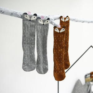 MINI DRESSING | RACOON SOCKS-GREY