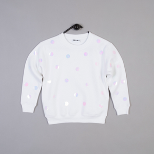SHAPES OF THINGS | POLKA DOT WHITE SWEATSHIRT - Mini Maj Copenhagen