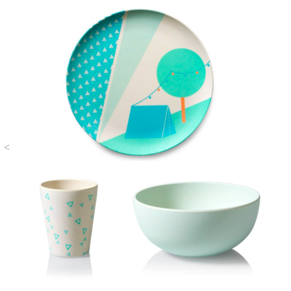 ENGEL | BAMBOO CHILDREN'S TABLEWARE 'TENT'