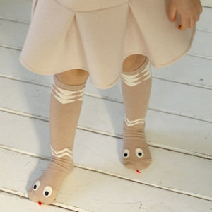 MINI DRESSING | SNAKE SOCKS BEIGE