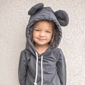 MOUSE IN A HOUSE | MOUSE HOODIE - ANTHRACITE