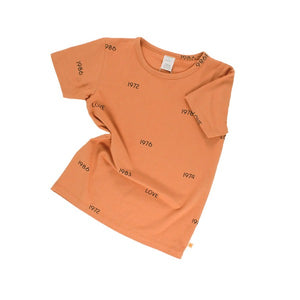 TINY COTTONS | LOVE YEARS DARK PEACH TEE