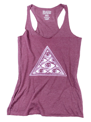 All Seeing Eye Tank - Heather Maroon