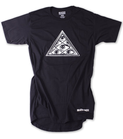 All Seeing Eye Extended Tee - Black