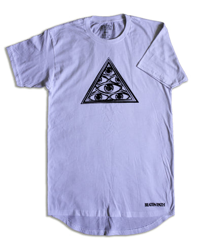 All Seeing Eye Urban Extended Tee - White