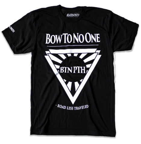 Bow To No One Tee - Black