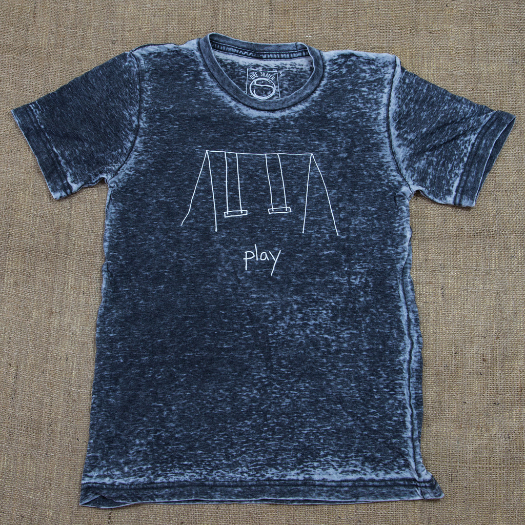 OneSkater Play Fitted Grey Acid Wash T shirt