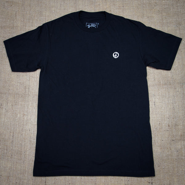 OneSkater Peace Tunes Fitted black T shirt