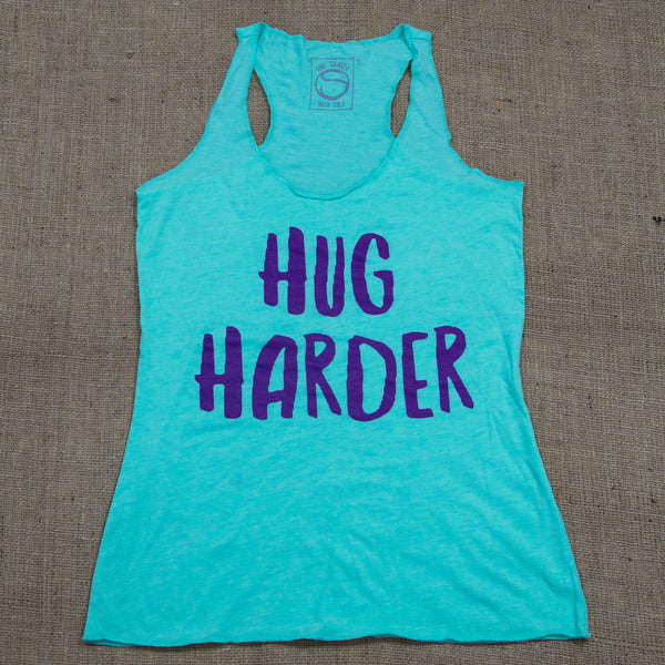 Hug Harder Women's Triblend Racerback Tank