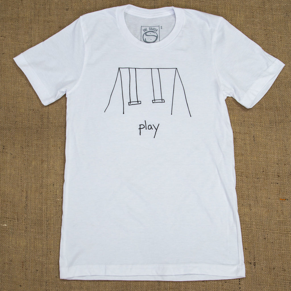 OneSkater Play Fitted White T shirt
