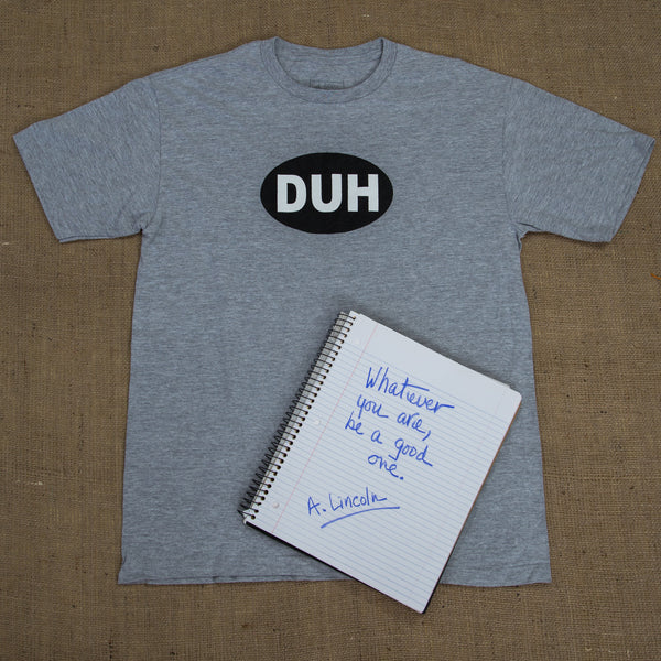 OneSkater Grey DUH Fitted T shirt