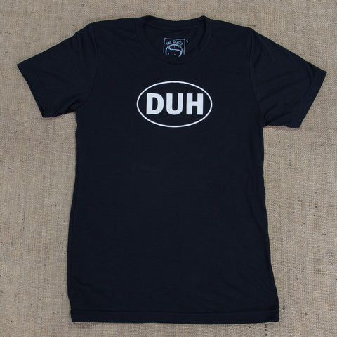 OneSkater Black DUH fitted T shirt