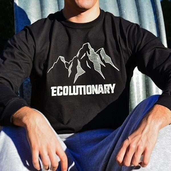 Ecolutionary Midnight Long Sleeve Organic T shirt