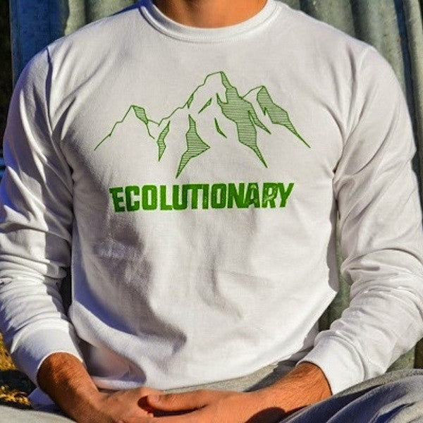Ecolutionary Mint Long Sleeve Organic T shirt