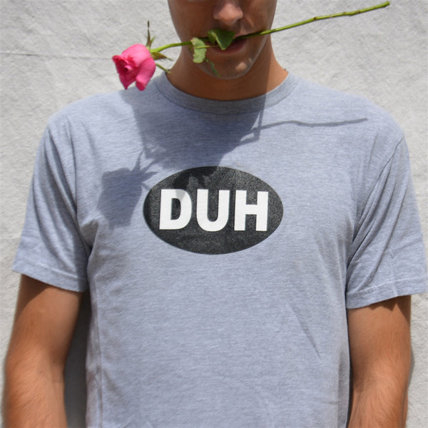 OneSkater DUH grey fitted T shirt