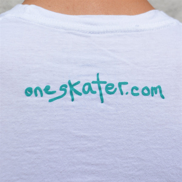 OneSkater Think About It fitted white T shirt