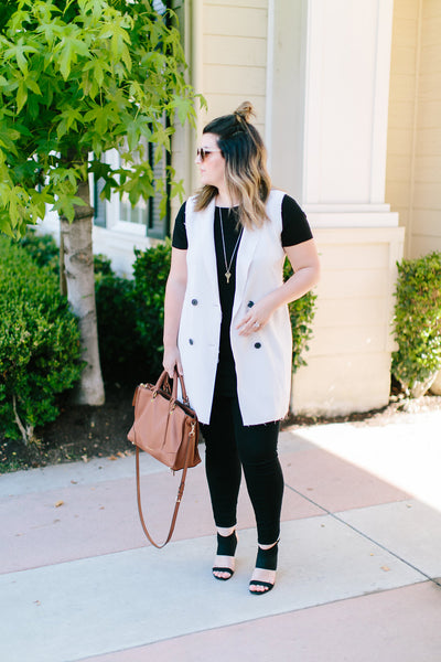 black and white outfit of the day