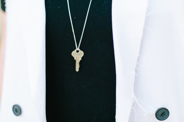 fearless giving key necklace