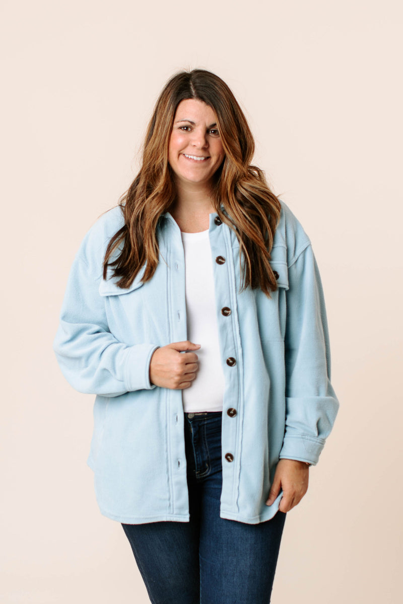 heathered pajama set that comes in regular size and curve featuring top with long sleeves, button closure with matching drawstring pants all with white piping around hems.