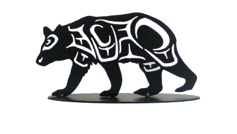 Coast Salish Bear - Metal Art - The Cuckoo's Nest