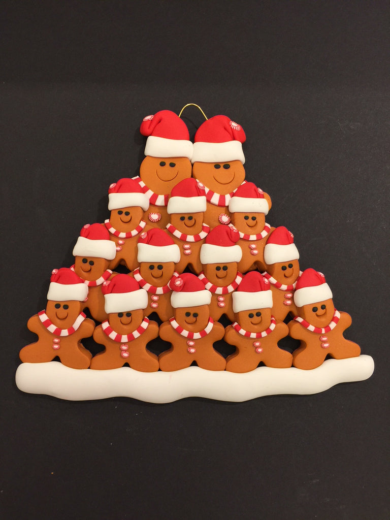 Ginger Bread Family of 14 Ornament