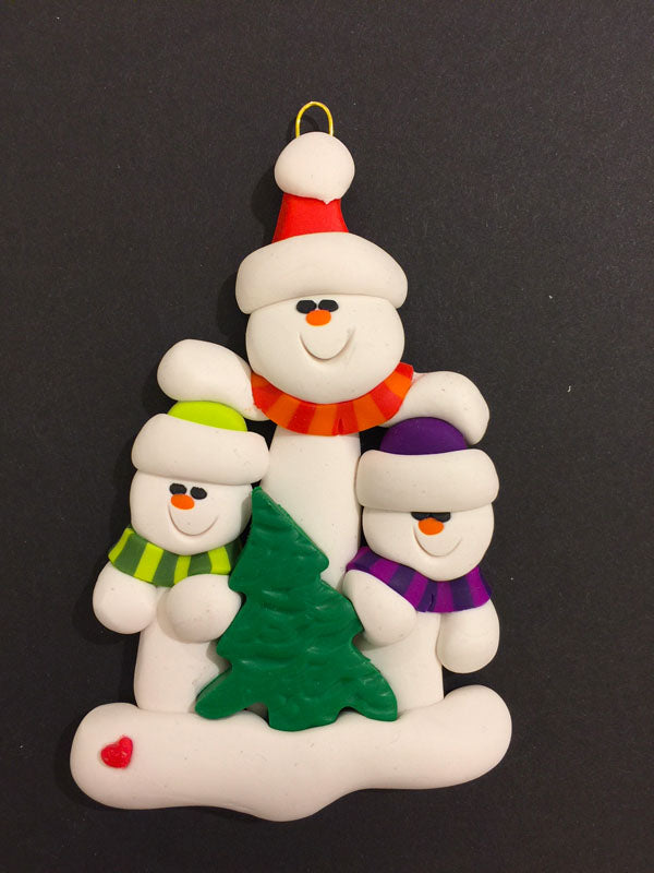 Single Parent Tree Family of 3 Ornament