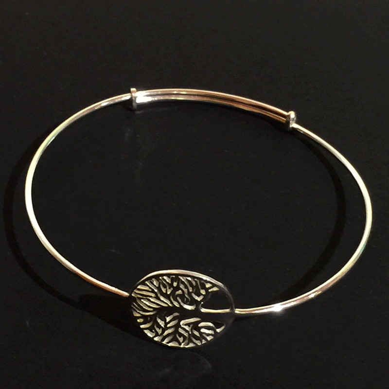 Bracelet - Sterling Silver Round Tree of Life - Jewellery - The Cuckoo's Nest