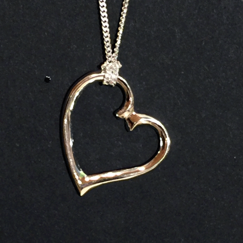 Pendant - Sterling Silver Heart - Jewellery - The Cuckoo's Nest