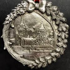 Canadian Parliament & Library Pewter Ornament