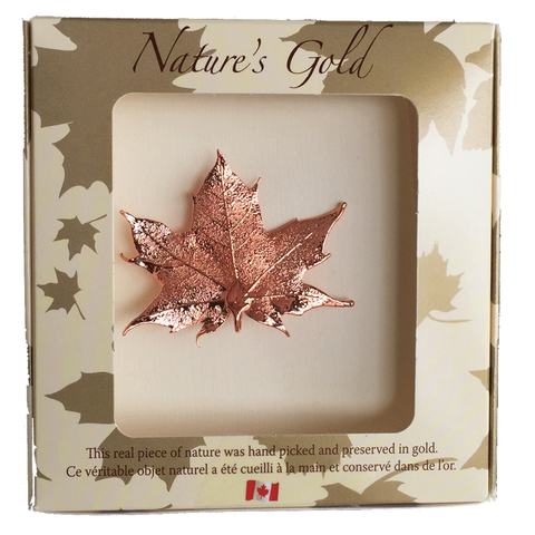 Maple Leaf Brooch - Copper - Jewellery - The Cuckoo's Nest