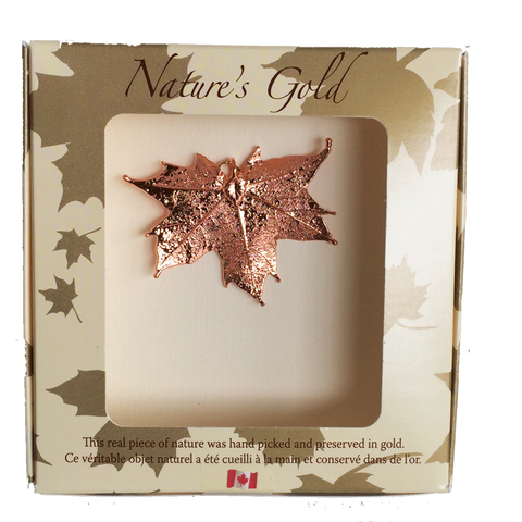 Maple Leaf Pendant - Copper - Jewellery - The Cuckoo's Nest