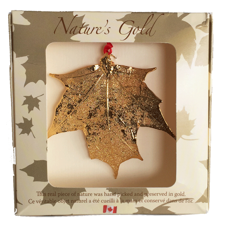 Maple Leaf Ornament - Gold